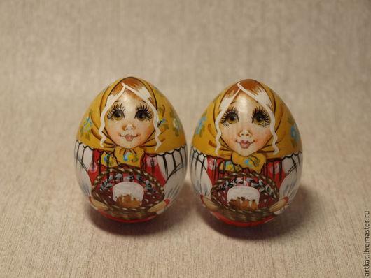 """Матрешки ручной работы. Ярмарка Мастеров - ручная работа. Купить Яйцо-матрешка """"Пасхальный натюрморт"""". Handmade. Ярко-красный, яйцо"""