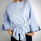 Блузка из итальянского хлопка (арт Б0417)