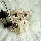 Куклы и игрушки ручной работы. Ярмарка Мастеров - ручная работа Сова интерьерная игрушка Совушка в кружевном платье. Handmade.