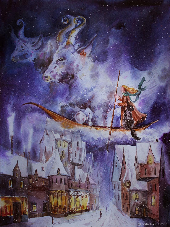 Зимняя картина Вдохновение зимы, Картины, Москва,  Фото №1