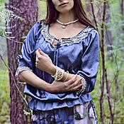 Одежда ручной работы. Ярмарка Мастеров - ручная работа Блузка с кружевом Verоna  шелковый ажурный топ, блузка бохо. Handmade.