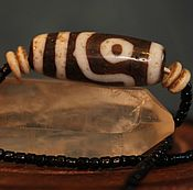 Украшения ручной работы. Ярмарка Мастеров - ручная работа Тибетская цепочка ,бусина Дзи 2 Глаза Дзи. Handmade.