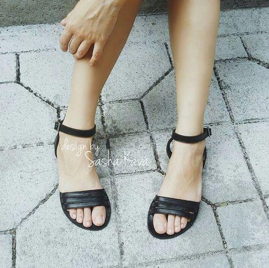 Обувь ручной работы. Ярмарка Мастеров - ручная работа. Купить Кожаные сандалии. Handmade. Сандалии, сандалии ручной работы