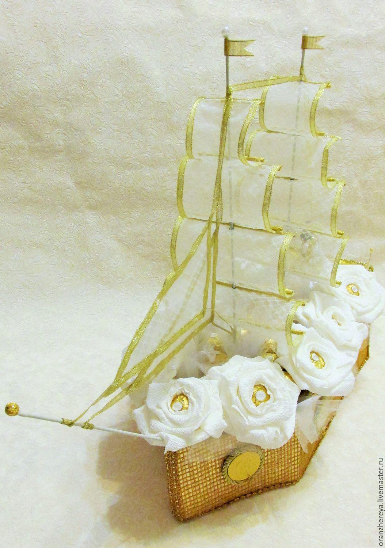 Свадебное поздравление к кораблю из конфет