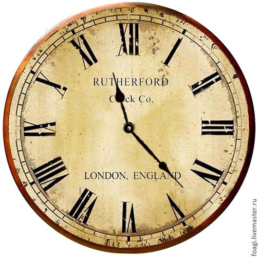 Часы для дома ручной работы. Ярмарка Мастеров - ручная работа. Купить часы настенные в стиле ретро большие. Handmade. прованс