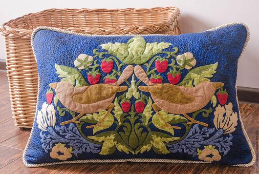 Текстиль, ковры ручной работы. Ярмарка Мастеров - ручная работа. Купить Подушка Клубничный вор. Handmade. Комбинированный, стежка, тинсулейт