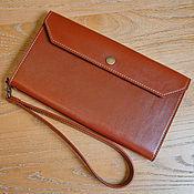 Сумки и аксессуары handmade. Livemaster - original item Wallet male leather brown / Buy for documents and money. Handmade.
