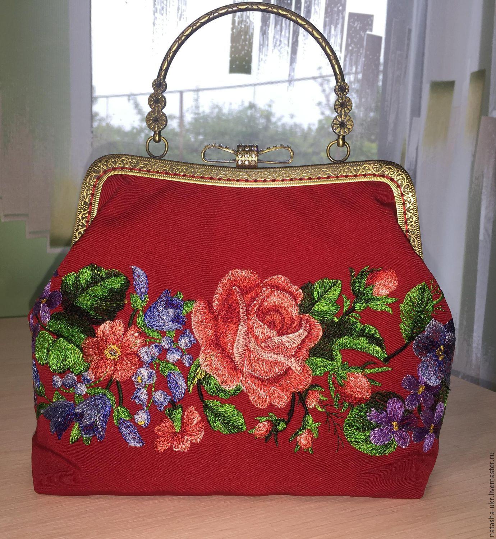 Сумки с вышивкой лентами Модные сумки 2018 81