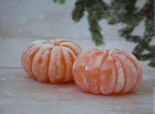 """Мыло ручной работы. Ярмарка Мастеров - ручная работа. Купить Мыло """"Мандарин очищенный"""". Handmade. Оранжевый, цитрусовый аромат"""
