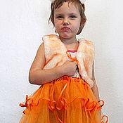 Работы для детей, ручной работы. Ярмарка Мастеров - ручная работа Костюм Лисички - 2 детский новогодний карнавальный. Handmade.