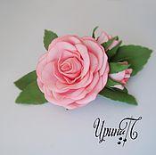 Украшения ручной работы. Ярмарка Мастеров - ручная работа Заколка с розами. Handmade.
