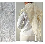 Аксессуары ручной работы. Ярмарка Мастеров - ручная работа Шаль ручной работы из шерсти и шелка. Handmade.