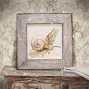 Картины и панно ручной работы. Ярмарка Мастеров - ручная работа картина акварелью Господи, как высоко... (в состаренной вручную раме). Handmade.