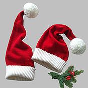 Подарки к праздникам ручной работы. Ярмарка Мастеров - ручная работа Новогодняя шапка-колпак в стиле Санта Клауса красная. Handmade.