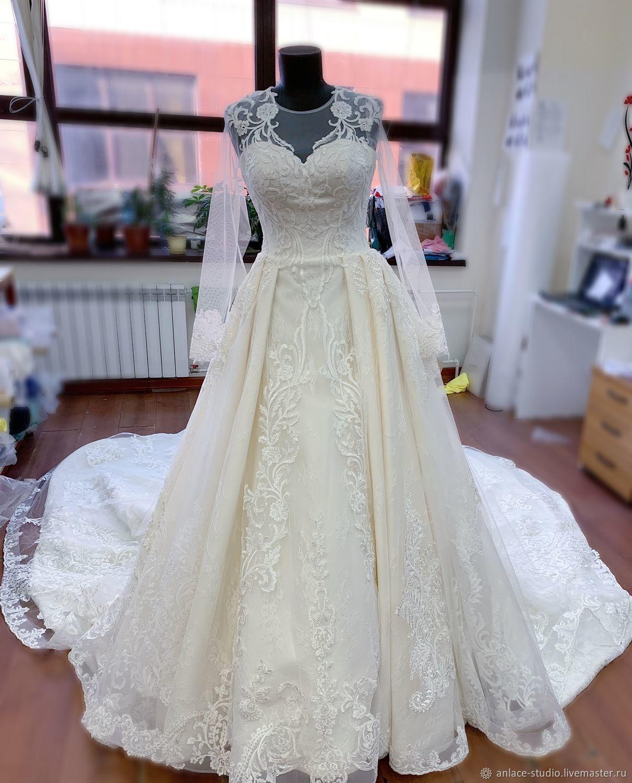 Пышное Свадебное Платье Кремовое, Платья, Москва,  Фото №1