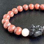 Фен-шуй и эзотерика handmade. Livemaster - original item Tibetan Tektite and Azeztulite Red Flame Bracelet. Handmade.