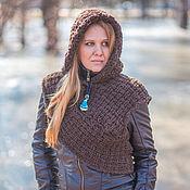 "Одежда handmade. Livemaster - original item Knit Woollen Hooded Snood ""Celtic"". Handmade."