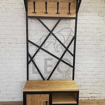 Мебель ручной работы. Ярмарка Мастеров - ручная работа Вешалка в стиле лофт LF-146. Handmade.