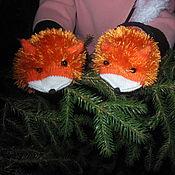 Аксессуары ручной работы. Ярмарка Мастеров - ручная работа Варежки лисички, рукавички лисички. Handmade.