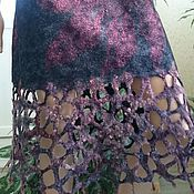 "Одежда ручной работы. Ярмарка Мастеров - ручная работа Юбка валяная ""Ажурная фантазия"". Handmade."