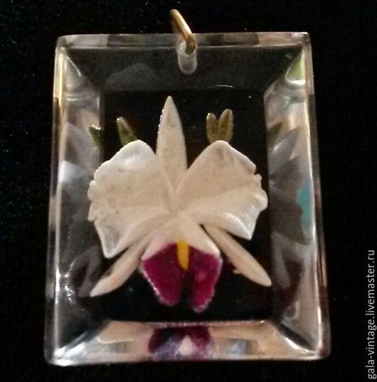 Винтажные украшения. Ярмарка Мастеров - ручная работа. Купить -20% Антикварный кулон Орхидея Англия 1940 винтажные украшения. Handmade.