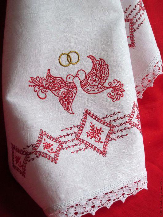 Свадебный рушник, Рушник на свадьбу, Рушник с вышивкой, Рушник для венчания, Венчальный рушник,  Союзный рушник, Рушник на каравай, Рушник на икону, Рушник свадебный, Голубки