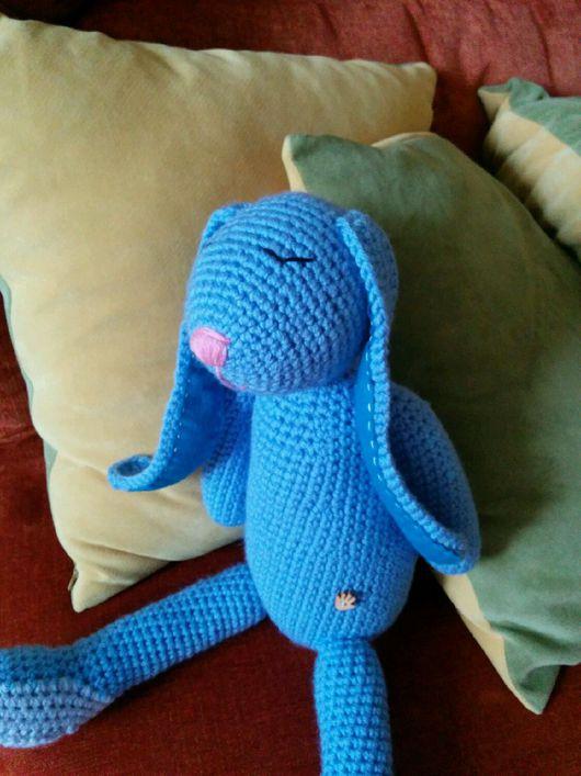 """Игрушки животные, ручной работы. Ярмарка Мастеров - ручная работа. Купить """"Зайка Соня"""" 2. Handmade. Голубой, Игрушка для сна"""