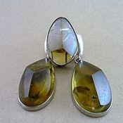 Украшения handmade. Livemaster - original item Earrings & ring citrine. Yellow earrings and a ring. Handmade.