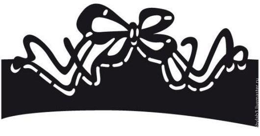 """Открытки и скрапбукинг ручной работы. Ярмарка Мастеров - ручная работа. Купить Форма для вырубки """"Бордюр - Бантик"""". Handmade. ножи для вырубки"""