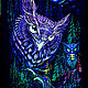 Psychedelic forest painting 'Mystic Owl', Pictures, Moscow,  Фото №1