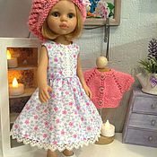 Куклы и игрушки handmade. Livemaster - original item Summer dress in pink flower. Handmade.