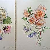 Картины ручной работы. Ярмарка Мастеров - ручная работа Цветочный диптих. Handmade.