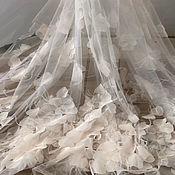 Материалы для творчества handmade. Livemaster - original item Exquisite 3D fabric with feather for prom dress, Lady. Handmade.
