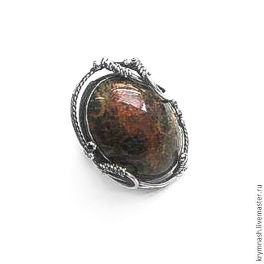 """Кольца ручной работы. Ярмарка Мастеров - ручная работа. Купить Кольцо """"Окаменелый коралл"""" серебро 925. Handmade. Коричневый, камень"""