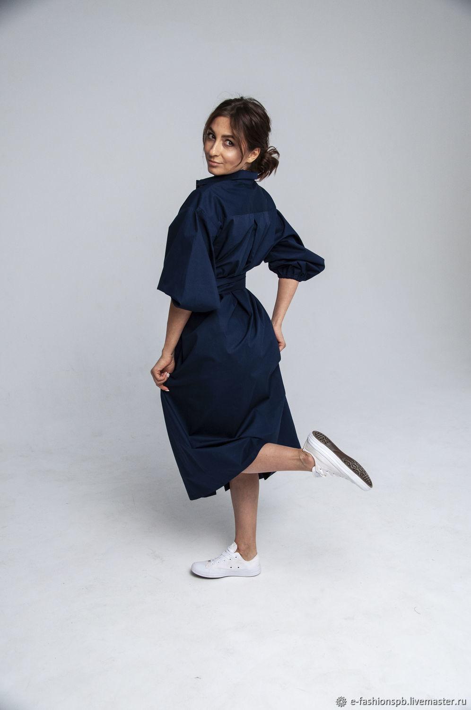 Платье-рубашка с пышными рукавами, Платья, Санкт-Петербург,  Фото №1