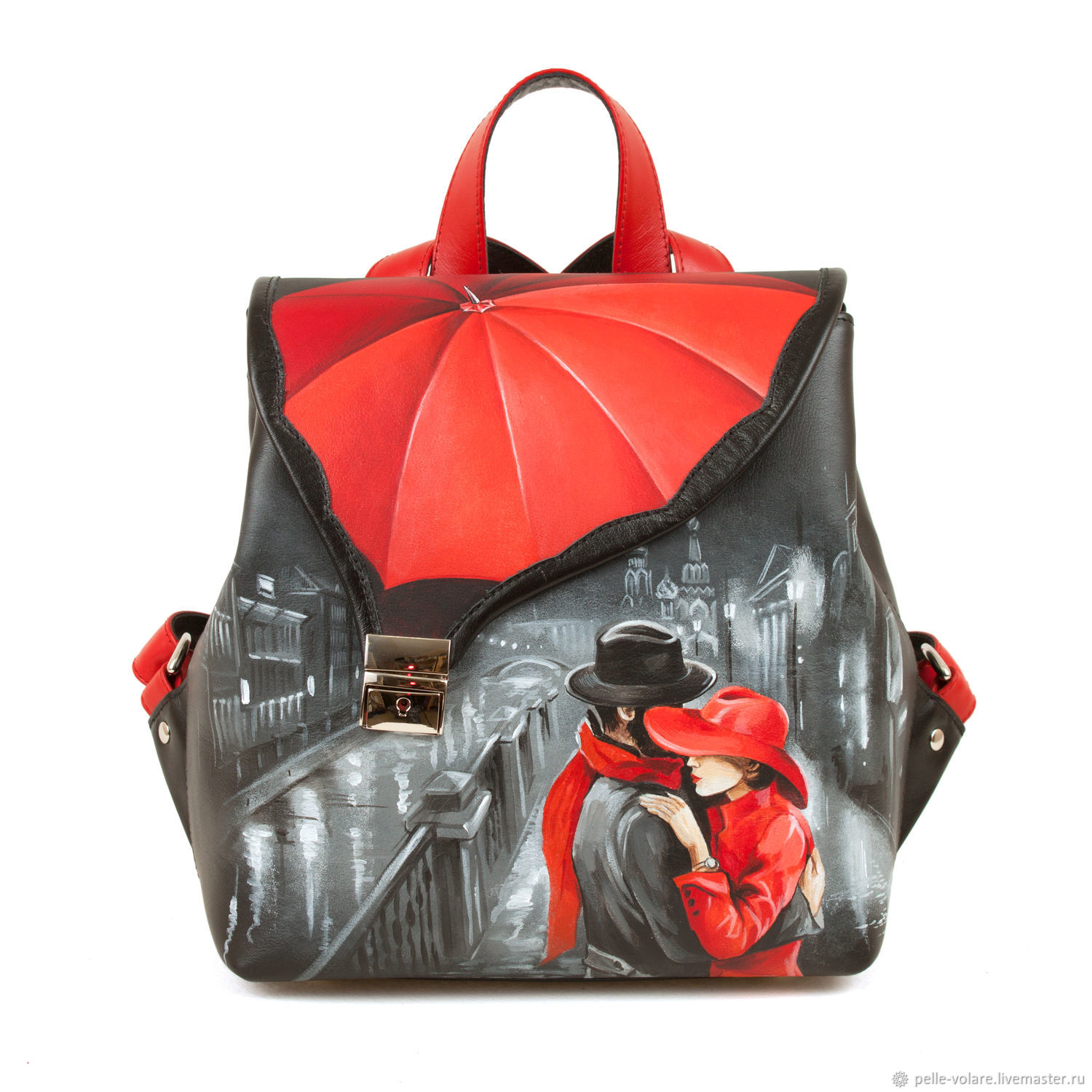 Women's leather backpack ' Two under an umbrella', Backpacks, St. Petersburg,  Фото №1