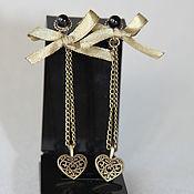 Украшения handmade. Livemaster - original item Earrings long Mystery of the heart author decoration. Handmade.