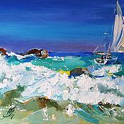 Картины и панно handmade. Livemaster - original item Lagoon - oil painting. Handmade.