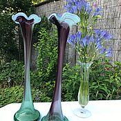 Винтаж handmade. Livemaster - original item Vases, water Lilies art glass, hand made, Italy. Handmade.