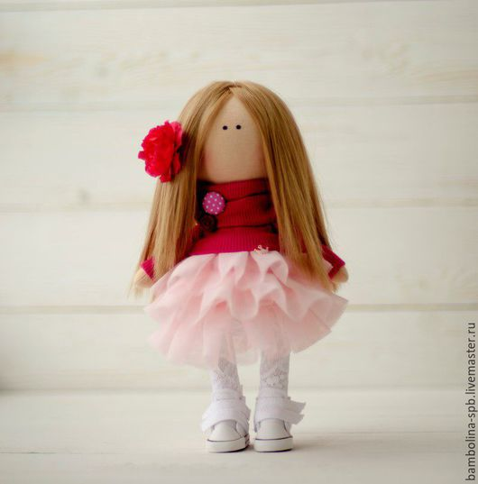 Куклы Тильды ручной работы. Ярмарка Мастеров - ручная работа. Купить Интерьерная текстильная кукла. Handmade. Фуксия, интерьерная кукла