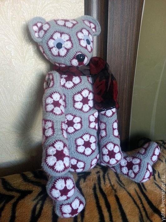 Игрушки животные, ручной работы. Ярмарка Мастеров - ручная работа. Купить Медведь. Handmade. Комбинированный, игрушка в подарок, медведь игрушка