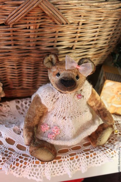 Мишки Тедди ручной работы. Ярмарка Мастеров - ручная работа. Купить Мишка тедди(класич) Машенька. Handmade. Оливковый, мишка тедди