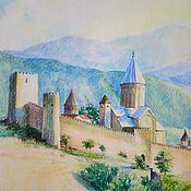 Картины ручной работы. Ярмарка Мастеров - ручная работа Картины: Замок. Грузия.. Handmade.