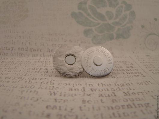 Шитье ручной работы. Ярмарка Мастеров - ручная работа. Купить Магнитная кнопка 14 мм никель. Handmade. Серебряный, фурнитура