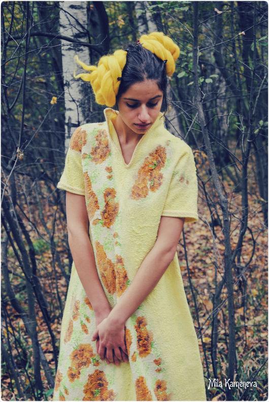 Платья ручной работы. Ярмарка Мастеров - ручная работа. Купить March. Платье.. Handmade. Валяное платье, однотонный, бохо, вискоза