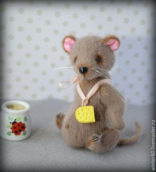 Мишки Тедди ручной работы. Ярмарка Мастеров - ручная работа. Купить Мышь Шуша. Handmade. Серый, подарок, стекло