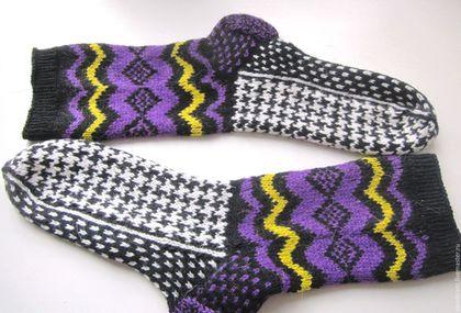 """Носки, Чулки ручной работы. Ярмарка Мастеров - ручная работа. Купить Носки """"Одри""""  в подарок мужчине женщине. Handmade."""