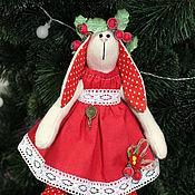 Куклы и игрушки ручной работы. Ярмарка Мастеров - ручная работа Новогодняя зайка. Handmade.