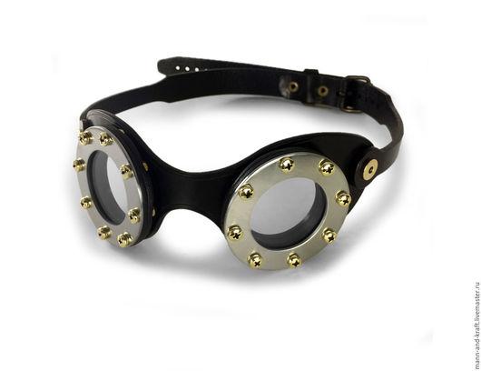 """Ролевые игры ручной работы. Ярмарка Мастеров - ручная работа. Купить Мото очки в стиле Стимпанк - """"FLATS"""" STEEL. Handmade."""