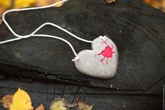 """Кулоны, подвески ручной работы. Ярмарка Мастеров - ручная работа. Купить Кулон """"Каменное сердце"""". Handmade. Кулон, кулон сердце"""